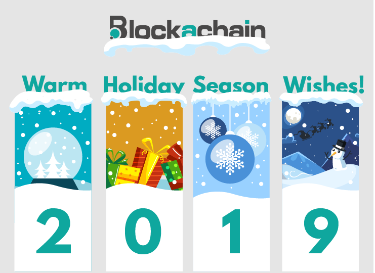 Blockachain Xmas card 2018